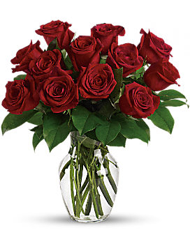 Enduring Passion - 12 Red Roses Bouquet