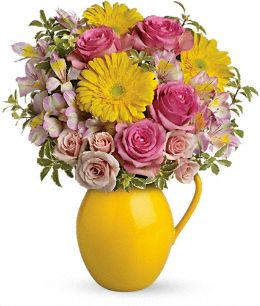 Sunny Day Pitcher of Charm Bouquet