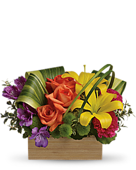 Teleflora's Shades Of Brilliance Bouquet Flower Arrangement
