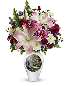 Thomas Kinkade's Moments Of Grace by Teleflora Bouquet
