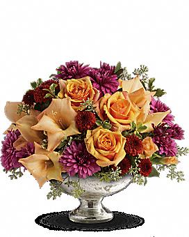 Teleflora's Elegant Traditions Centerpiece Flower Arrangement