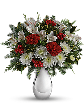Teleflora's Silver And Snowflakes Bouquet Bouquet