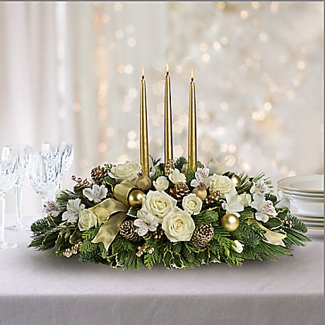 Royal Christmas Centerpiece Bouquet Teleflora