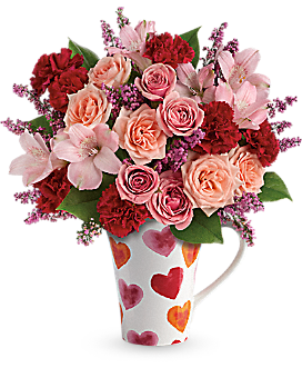 Teleflora's Lovely Hearts Bouquet Bouquet